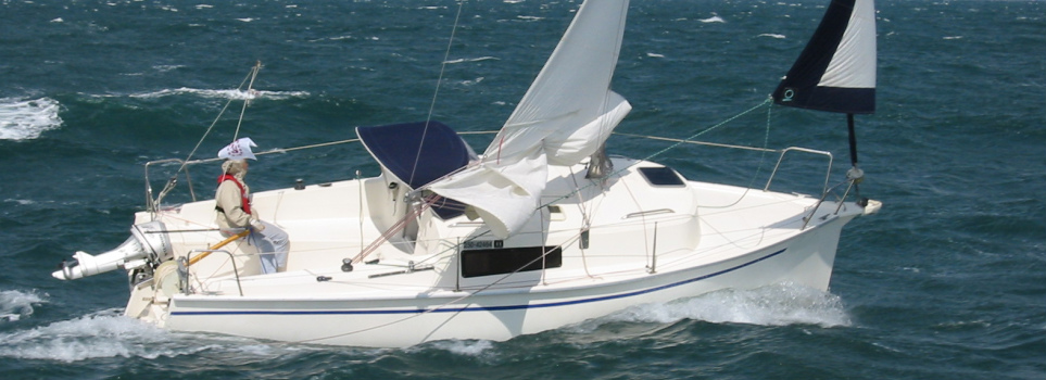 Reefed main and jib under 35 knot wind